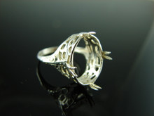 5820 Ring Setting Sterling Silver Size 6.25, 16x12 mm Oval Gemstone