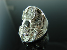 6035 Spider Skull Sterling Silver Mans Ring Size 8.5