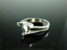 5875 Ring Setting Sterling Silver Size 6, 7 mm Trillion Gemstone