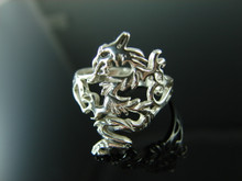6043LM Dragon Ring Setting Sterling Silver Size 8