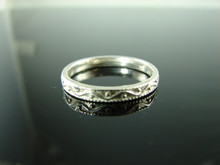 5914 Ring Band Setting Sterling Silver Size 9