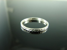 5938 Ring Band Setting Sterling Silver Size 7.75