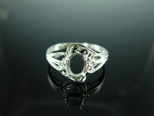 6082 Ring Setting Sterling Silver Size 8.5, 7x5mm Oval Gemstone