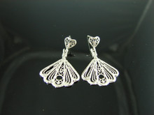 4017 STERLING SILVER FILIGREE DANGLE EARRING SETTING