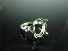 6109 Ring Setting Sterling Silver Size 5, 12x10 mm Oval Gemstone