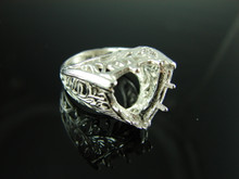 6049 Ring Setting Sterling Silver Size 6.5, 13 mm Trillion Gemstone