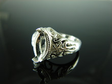 6130 Ring Setting Sterling Silver Size 8,  12x6 mm Marquise Gemstone