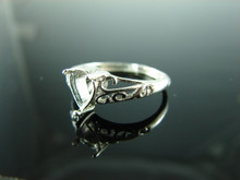 6135 Ring Setting Sterling Silver Size 7.25, 8x6 mm Pear Gemstone