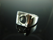 6139 Ring Setting Sterling Silver Size 8.5, 11x9 mm Oval Facet Or Cabochon Gemstone