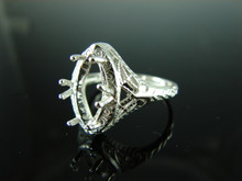 6145 Ring Setting Sterling Silver Size 8.5, 14x7mm Marquise Gemstone