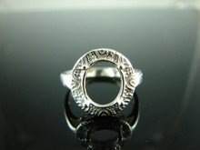6151 Ring Setting Sterling Silver Size  7.25, 11x9 mm Oval Gemstone