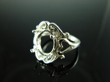 6162 Ring Setting Sterling Silver Size 6.75, 11x9 Oval CAB ONLY Gemstone