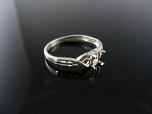 4996  RING SETTING STERLING SILVER, SIZE 6.25, 6X4 MM OVAL STONE