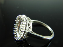 6203 Ring Setting Sterling Silver Size 8.5,oval faceted gemstone