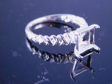 6226 Ring 8 mm cushion cut stone, Size 7.25