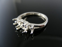 5569  RING SETTING STERLING SILVER, SIZE 6, 2-4 MM 1-5.5 MM ROUND STONES