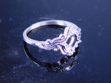 6249 Sterling Silver Ring 7 x 5 mm oval, Size 7.25