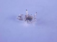 6261 Pendant setting filigree sterling silver 10 mm heart