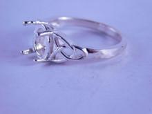 6287 Ring Sterling Silver 9 x 7 mm gemstone, Size 7