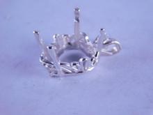 6290 Sterling silver heart pendant, 15 mm heart