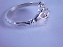 6302 Sterling Silver Ring Setting, 4 mm Round Stone, Size 7.25