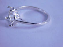 6309 Sterling Silver Ring Setting, 8x8 mm Heart, Size 6.25