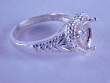 6326 STERLING SILVER RING SETTING, 8X8 MM HEART STONE, SIZE 7