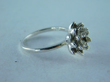 6373 RING STERLING SILVER SOLITAIRE, 4.5 MM GEMSTONE, SIZE 8.5