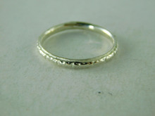 6358 RING STERLING SILVER, ANTIQUE STYLE BAND, SIZE 5.5