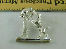 6406 STERLING SILVER COON HUNTER PENDANT