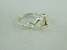 6422 STERLING SILVER RING SETTING, 8X6 MM OVAL FACETED GEMSTONE, SIZE