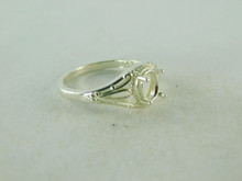 6426 STERLING SILVER FILIGREE RING SETTING, 7X5 MM OVAL FACETED GEMSTONE, SIZE 6.25