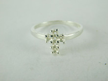 6501 STERLING SILVER RING SETTING, 6 STONE,  6 - 2 MM ROUND FACETED GEMSTONE, SIZE 7