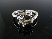 5434 RING SETTING STERLING SILVER,SIZE 7.5,  5.5 MM ROUND