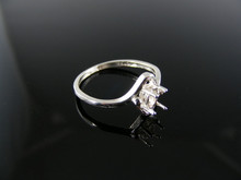 1316 RING SETTNG STERLNG SILVER, SIZE 5, 5X3 MM OVAL STONE