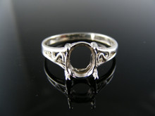 5561 RING SETTING STERLING SILVER, SIZE 8, 8X6 MM OVAL