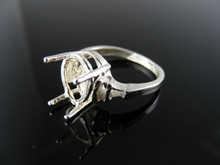 5556 RING SETTING STERLING SILVER, SIZE 7, 12X10 MM PEAR