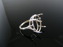 4934  RING SETTING STERLING SILVER, SIZE 6.75, 18X13 MM OVAL STONE