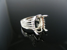 2863  RING SETTING STERLING SILVER, SIZE 7, 16X12 MM OVAL STONE