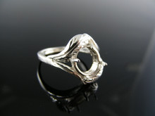 2480 RING SETTING, STERLING SILVER, 10X8 MM OVAL STONE