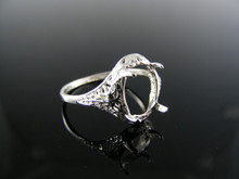 2583  RING SETTING STERLING SILVER, SIZE 6.25, 10X8 MM OVAL STONE
