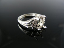 5482  RING SETTING STERLING SILVER, SIZE 6.25, 10X8 MM OVAL STONE