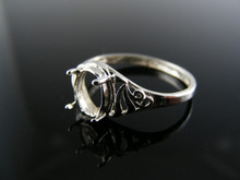 5564  RING SETTING STERLING SILVER, SIZE 8, 8X6 MM OVAL STONE