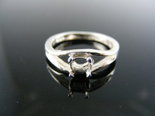 5545  RING SETTING STERLING SILVER, SIZE 4.5, 5X3 MM OVAL STONE
