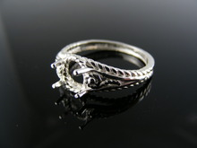5605  RING SETTING STERLING SILVER, SIZE 8, 7X5 MM OVAL STONE