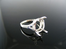 1864  RING SETTING STERLING SILVER, SIZE8, 14x12 MM OVAL STONE