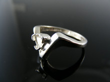 4911  RING SETTING STERLING SILVER, SIZE 5.75, 4 MM TRILLION STONE