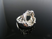 5403  RING SETTING STERLING SILVER, SIZE 6.25, 14X12 MM OVAL STONE