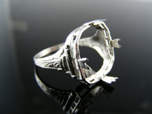 5506 RING SETTING STERLING SILVER, SIZE 7, 12X12MM CABOCHON  SQUARE