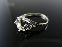 5500 RING SETTING STERLING SILVER, SIZE 7, 6X6 MM SQUARE